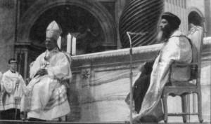 صورة لقداسة البابا بولس السادس والبابا شنود الثالث بالفاتيكان يوم 10 مايو 1973