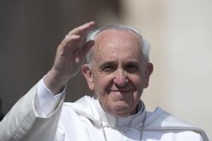 Papa Francesco durante l'udienza generale del mercoledì