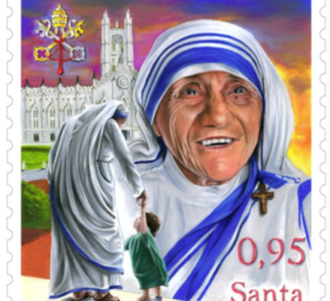 The-stamp-to-mark-the-canonisation-of-Blessed-Teresa-of-Calcutta-438x400
